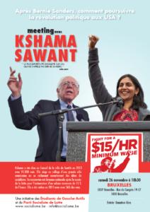 Kshama Sawant à Bruxelles